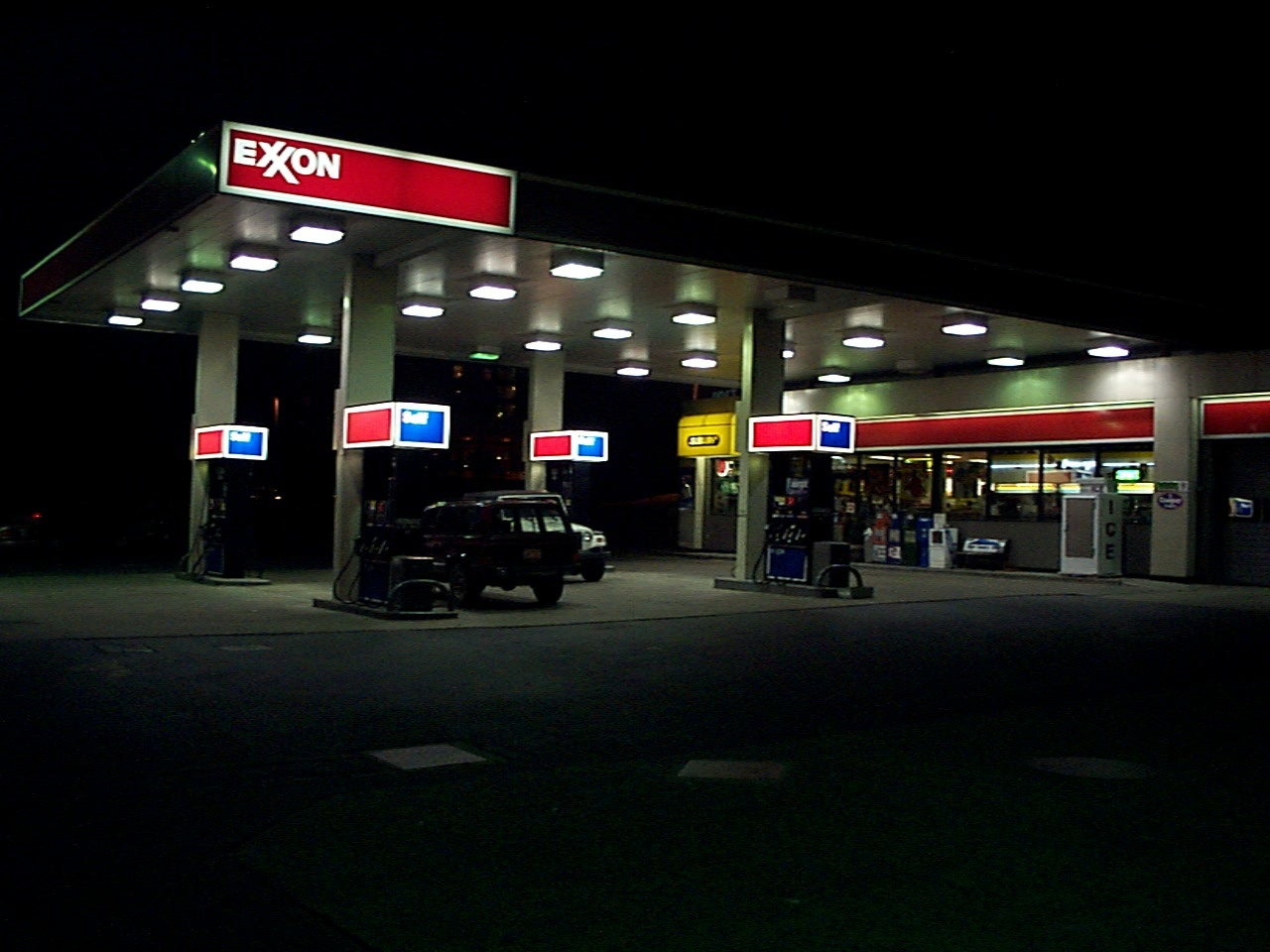 Light Levels At Area Gas Station Canopies